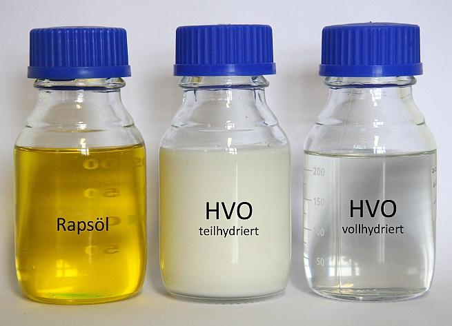 Hydriertes Pflanzenöl (HVO) hat ähnliche Eigenschaften wie Heizöl und könnte künftigdas Brennstoffangebot ergänzen. (Foto: IEC Freiberg)